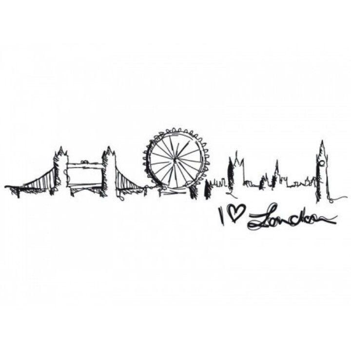 Line Drawing Tattoo Artists London : London skyline outline tattoo pixshark images