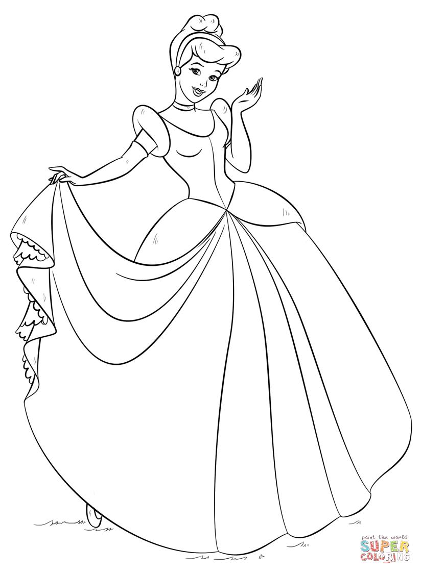 Cinderella From Cinderella Coloring Page Free Coloring Pages Online Cinderella Coloring Pages Princess Coloring Pages Disney Princess Coloring Pages
