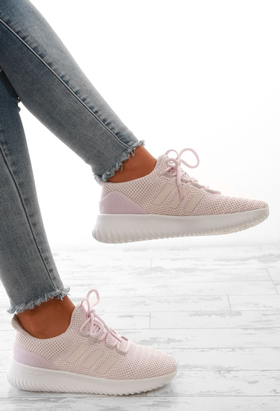 Adidas Pink Cloudfoam Ultimate Trainers - UK 3.5 | Pink ...