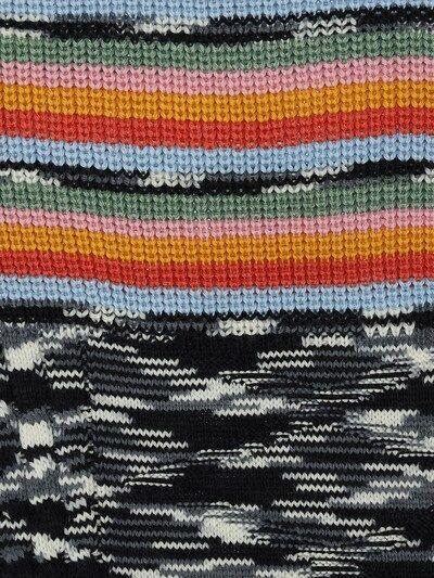 Multicolor Wool & Acrylic Knit Scarf Multicolor  Multicolor Wool & Acrylic Knit Scarf Multicolor  #acrylic #Knit #Multicolor #Scarf #Wool