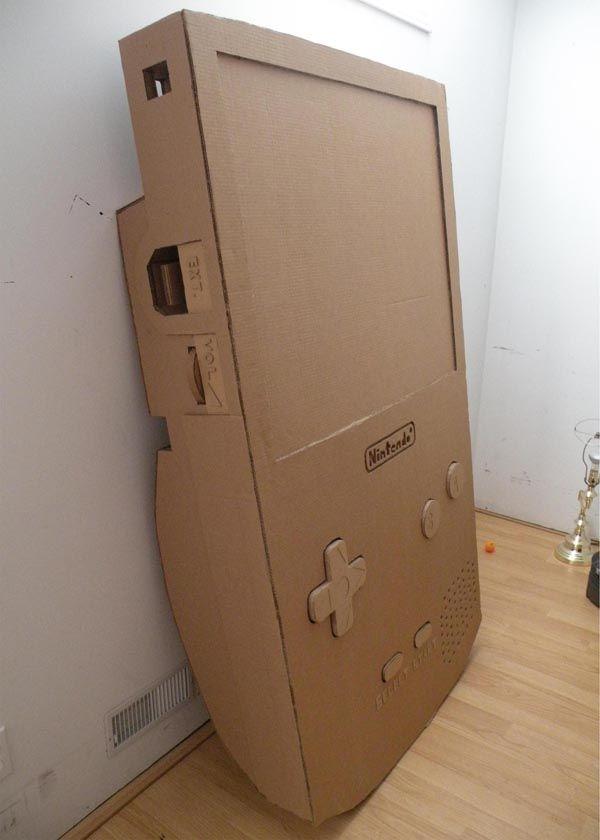 Giant Cardboard Nintendo Gameboy Happy Stuff Cardboard Design Cardboard Sculpture Nintendo