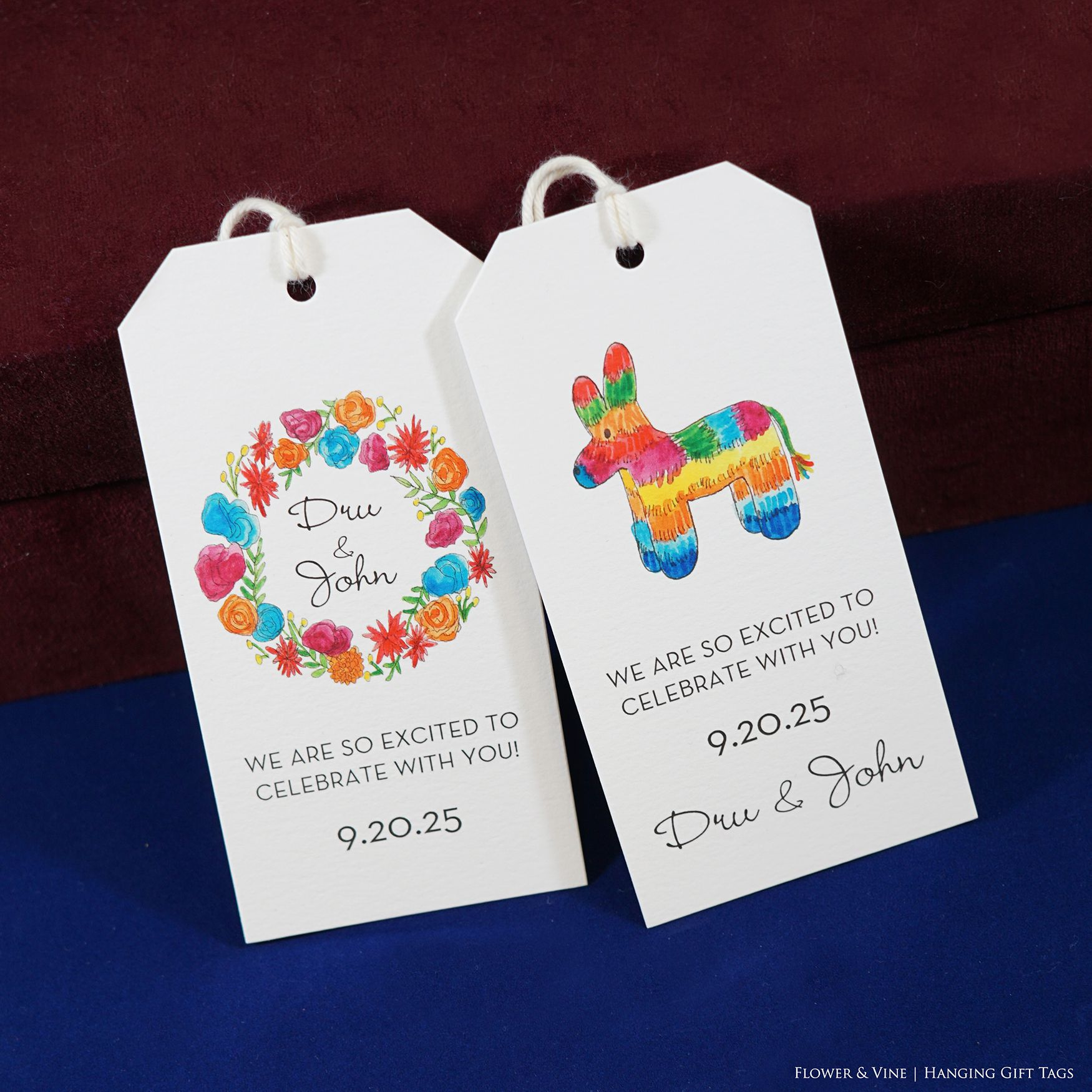 Fiesta Personalized Gift Tags Designed