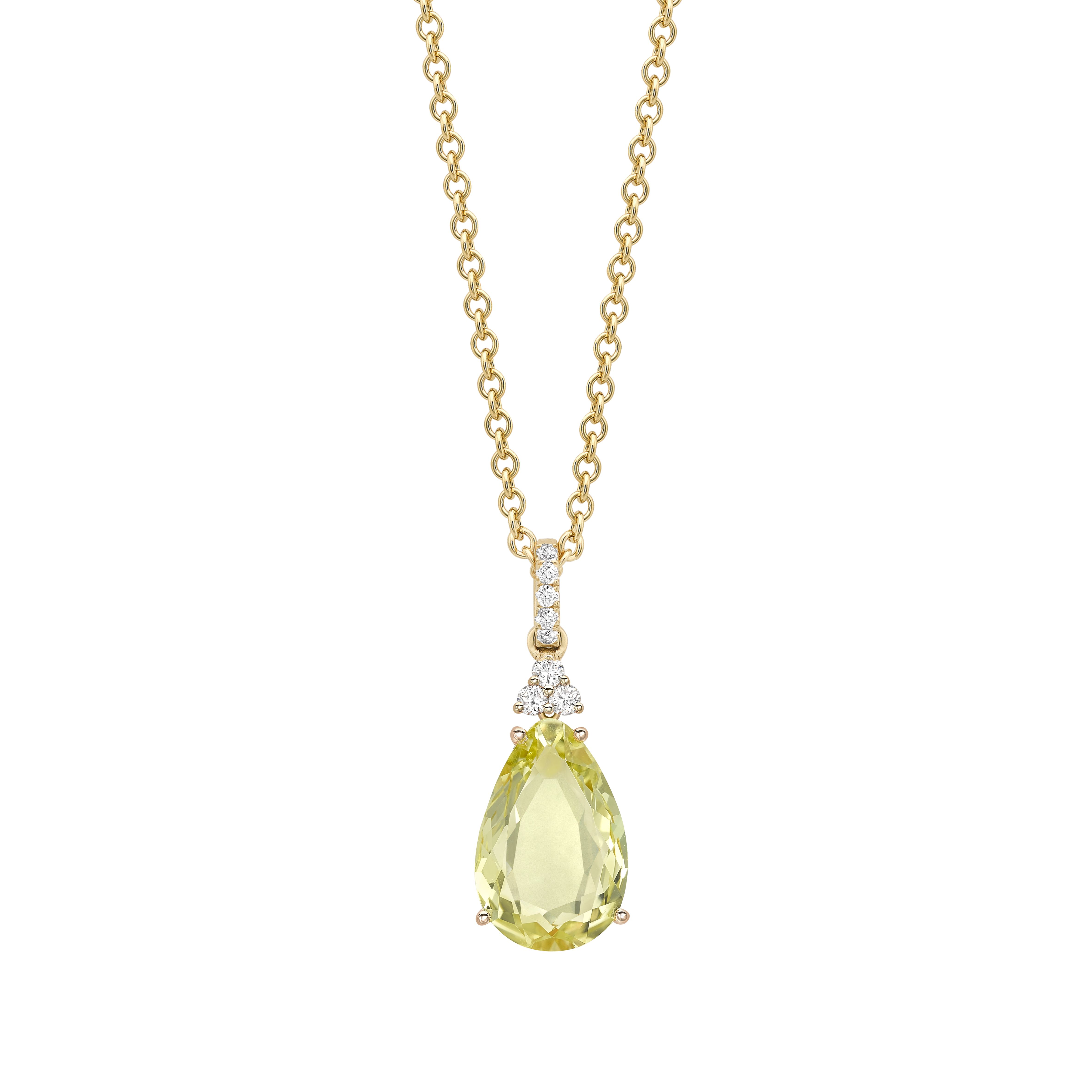 Candy mini lemon quartz and diamond pendant christmas at kikius