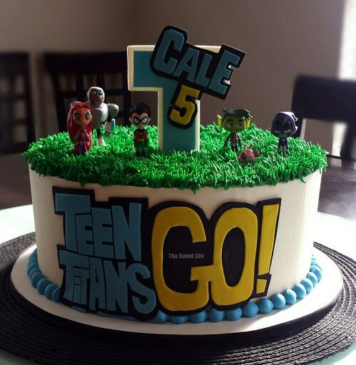 Teen Titans Go Birthday Cake My Cakes In 2019 Teen