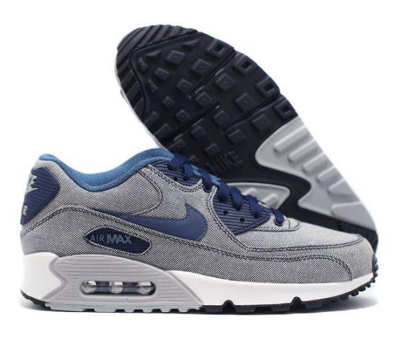 best sneakers bac02 f2618 Nike Air Max 90 Premium   Obsidian, New Slate, Photo Blue, Wolf Grey