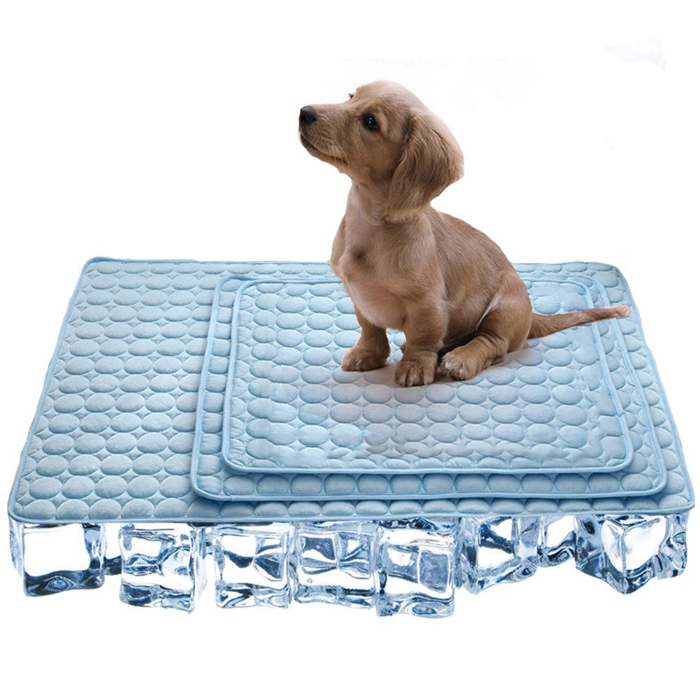 Osopola Pet Ice Mat Cat Dog Cooling Pad Breathable Portable Comfortable Travel Mat Summer Pet Supplies For Indoor Outdoor Cat Bed Dog Cooling Pad Pet Supplies