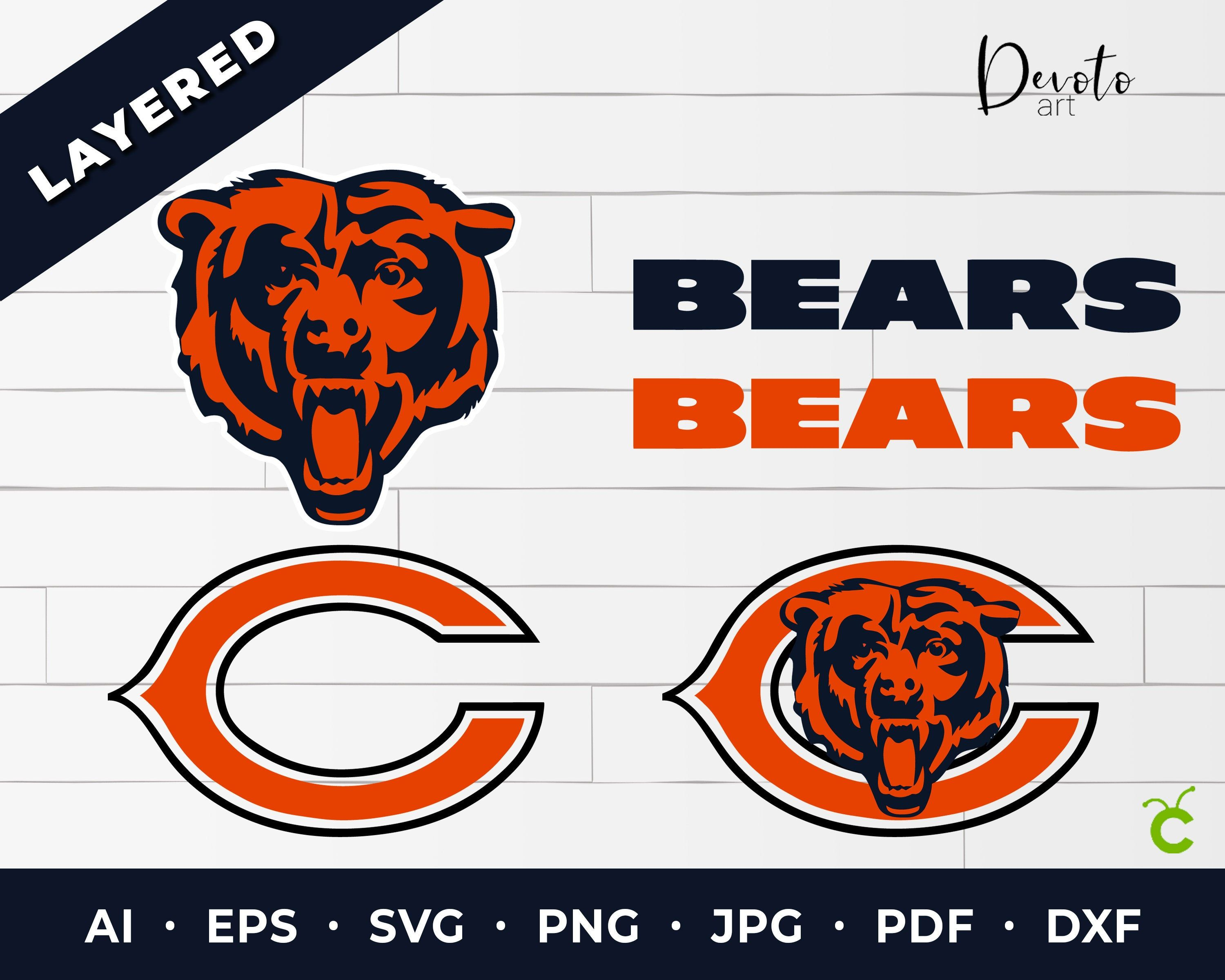 Pin on chicago bears svg