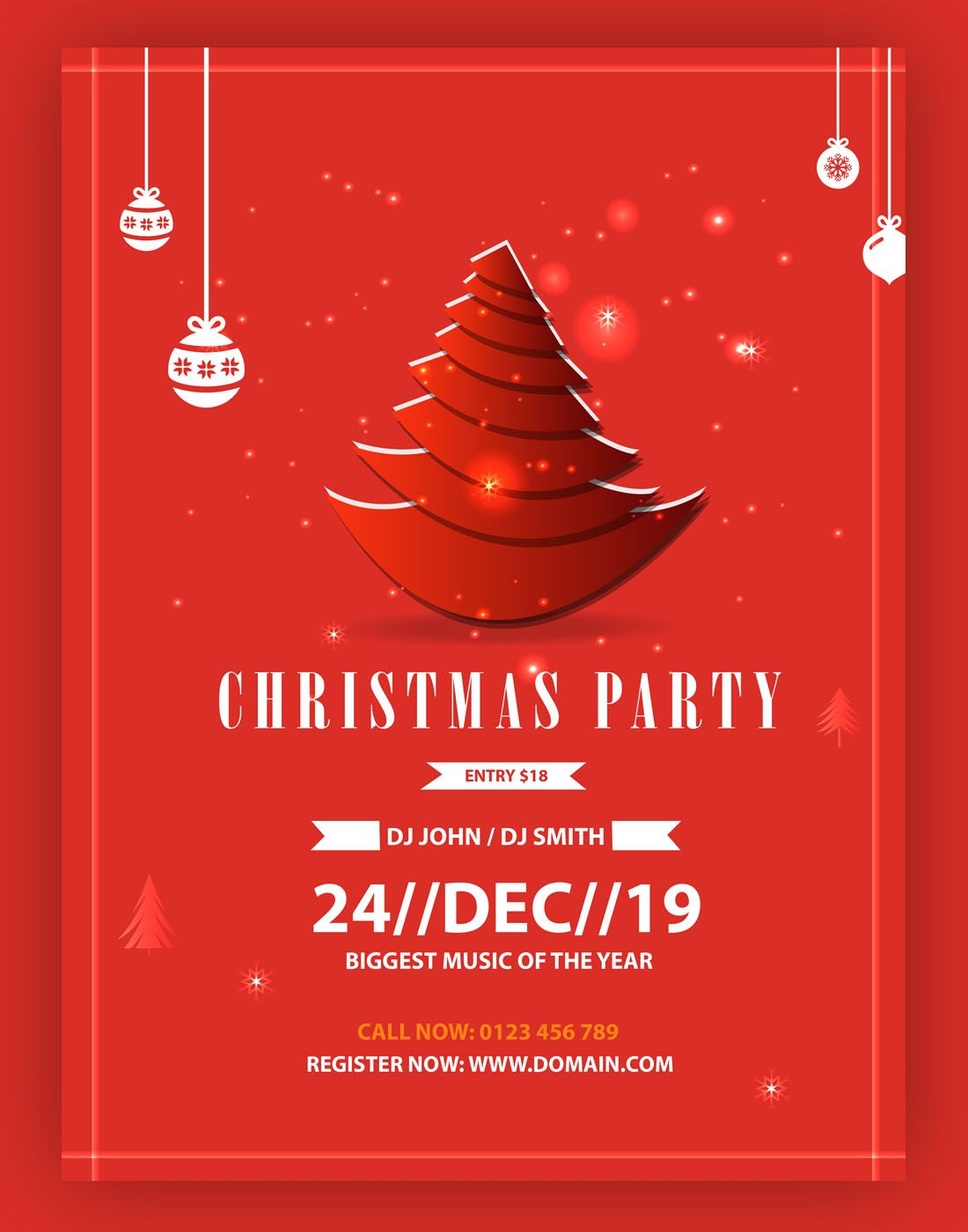 Christmas card vector (With images) | Christmas party ...