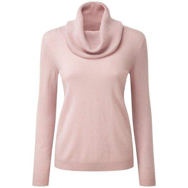 Pure Collection Morgan Cashmere Cowl Neck Jumper, Oyster (€155 ...