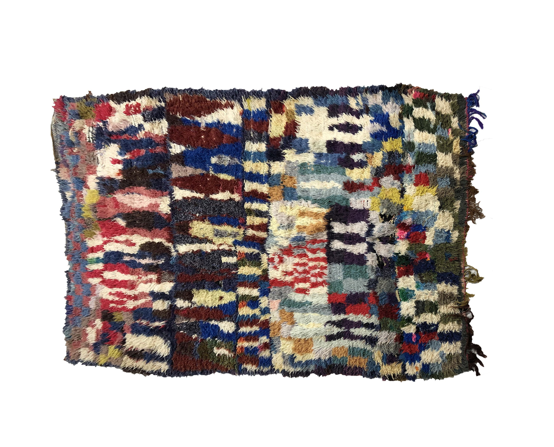 Boucharouite Rug Berber Moroccan Rug Carpet Morocco Berber Rug Wool Carpet Old Carpets Bohemian Rug Rugs Colorful Moroccan Rugs