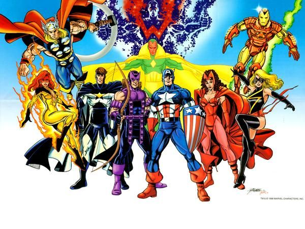 Avengers Art By George Perez With Images Avengers Comics