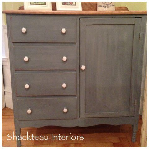 Antique Wardrobe Cabinet Shackteau Interiors Slate Gray Milk Paint On Baby