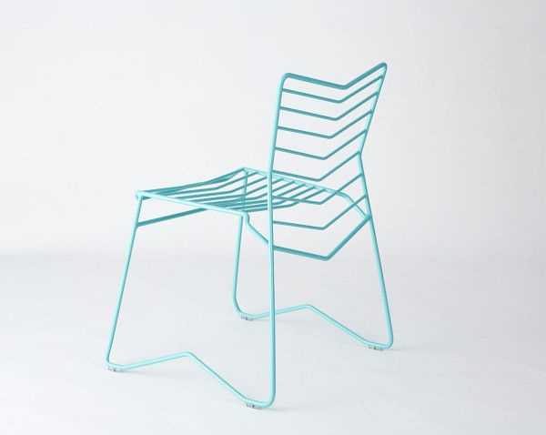 Kai: A Stackable, Wire Frame Chair By Daniel Lau