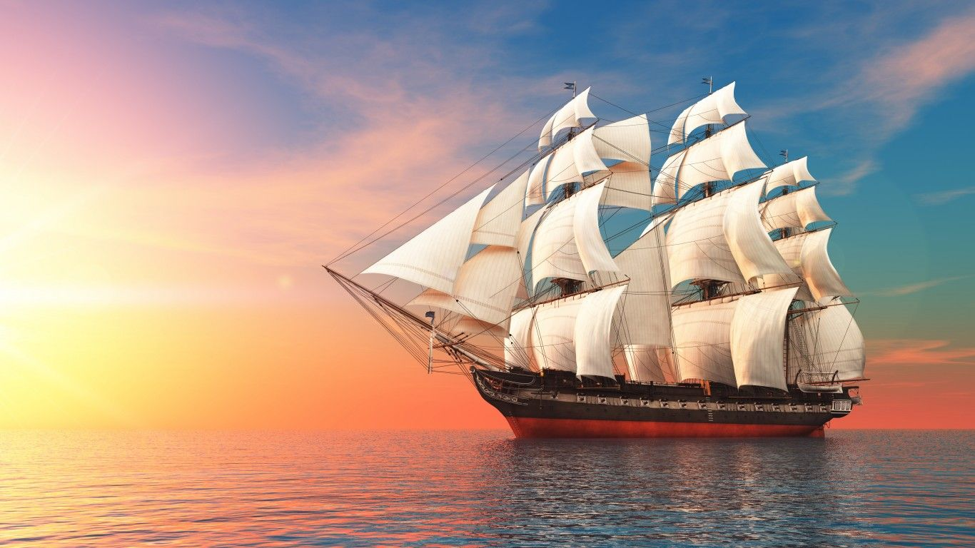 Yelkenli Gemi Duvar Kagidi Gemi Yelken Yat