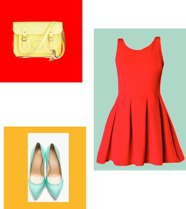 """""""Color Bocked"""" by christinacollins81 on Polyvore"""