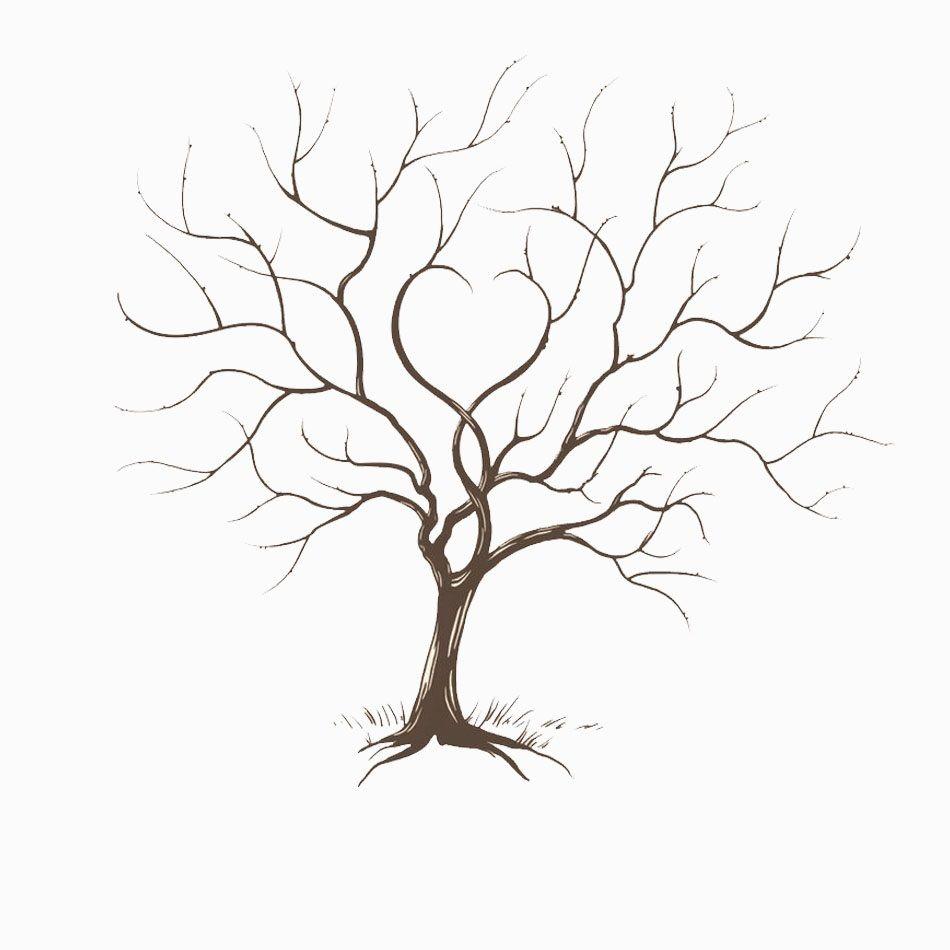 nature arbres gabarit arbre a empreinte livre d 39 or. Black Bedroom Furniture Sets. Home Design Ideas