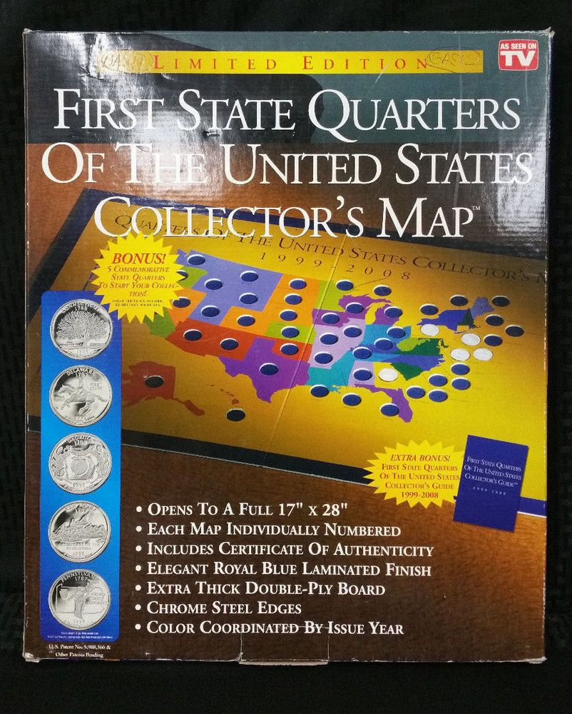 First State Quarters of the United States Collectors Map | Stuff to ...