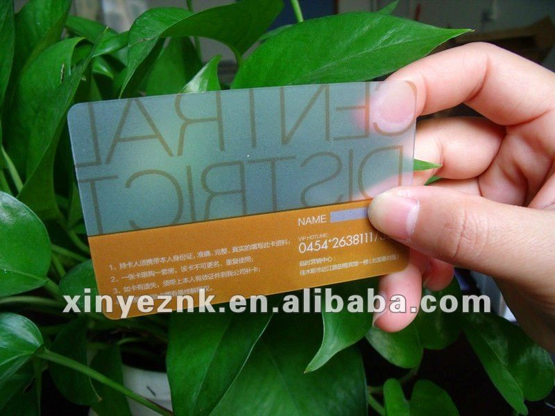 pvc frosted business card (Accept T/T, paypal, western Union ...