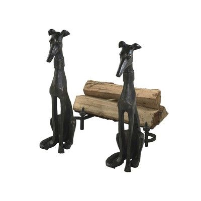 Buy Cyan Design Dog Fireplace andirons on sale online | Fire Pits ...