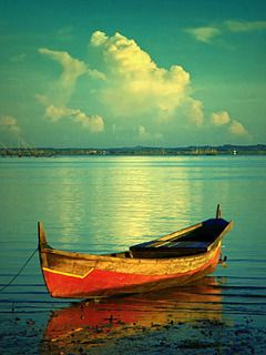 Boat On Sea Mobile Wallpaper Boat Painting Boat Boating Photos