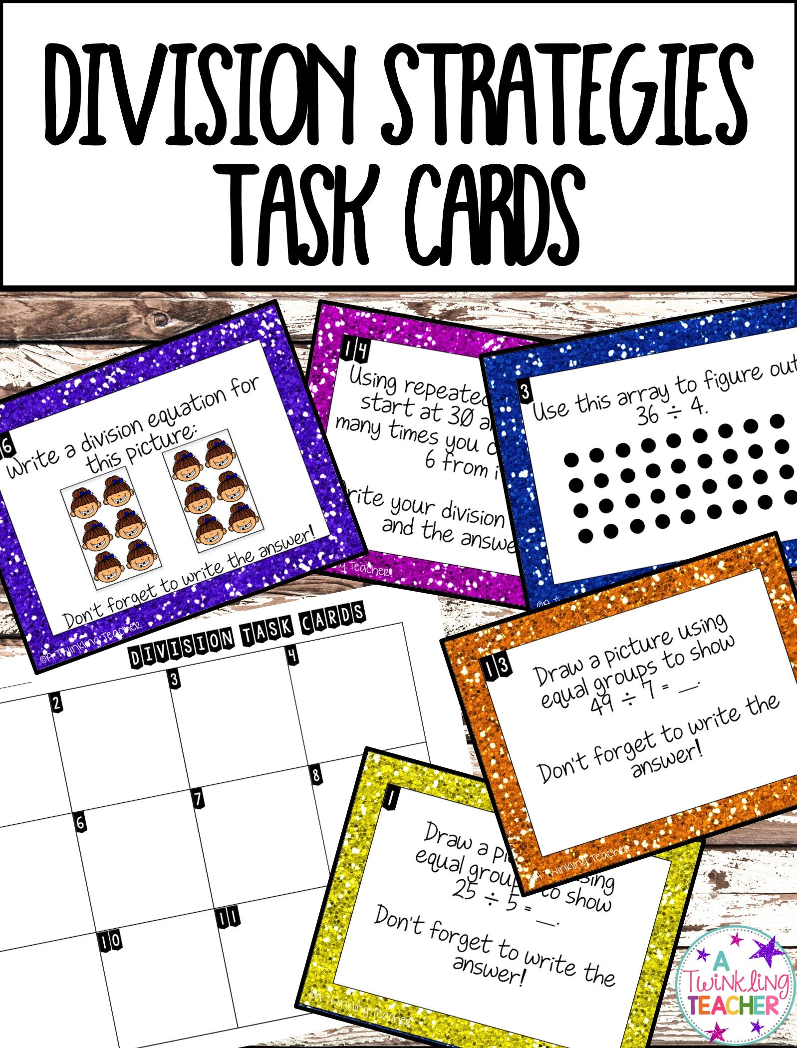 Division Strategy Scoot Task Cards