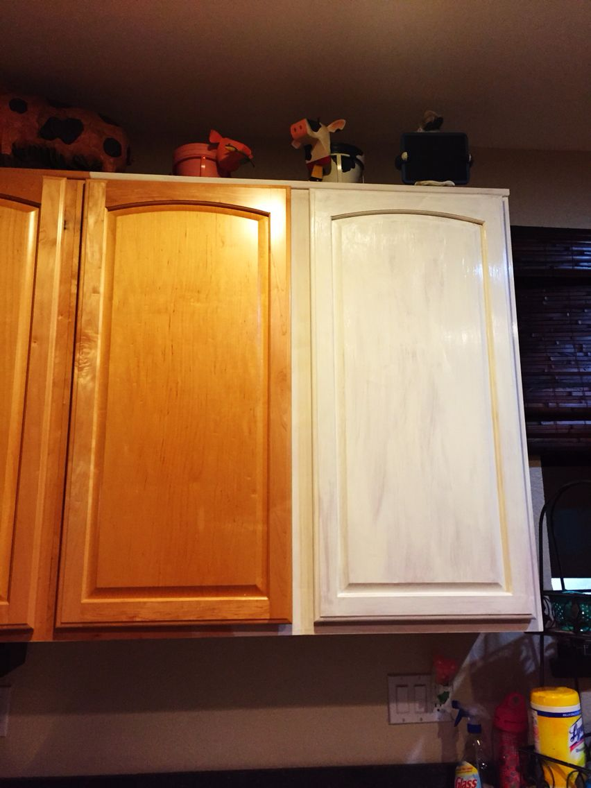 Before & after chalk painted kitchen cabinet | Chalk paint ...