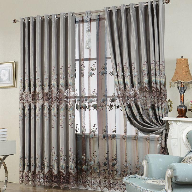 Luxury Embroidered European Style Blackout Curtain Vintage Curtains Luxury Curtains Home Curtains
