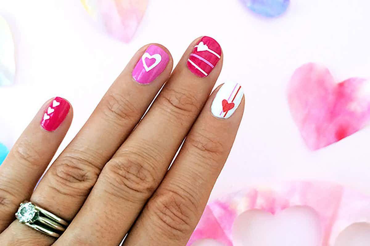 Cricut design space heart nail art heart nails best