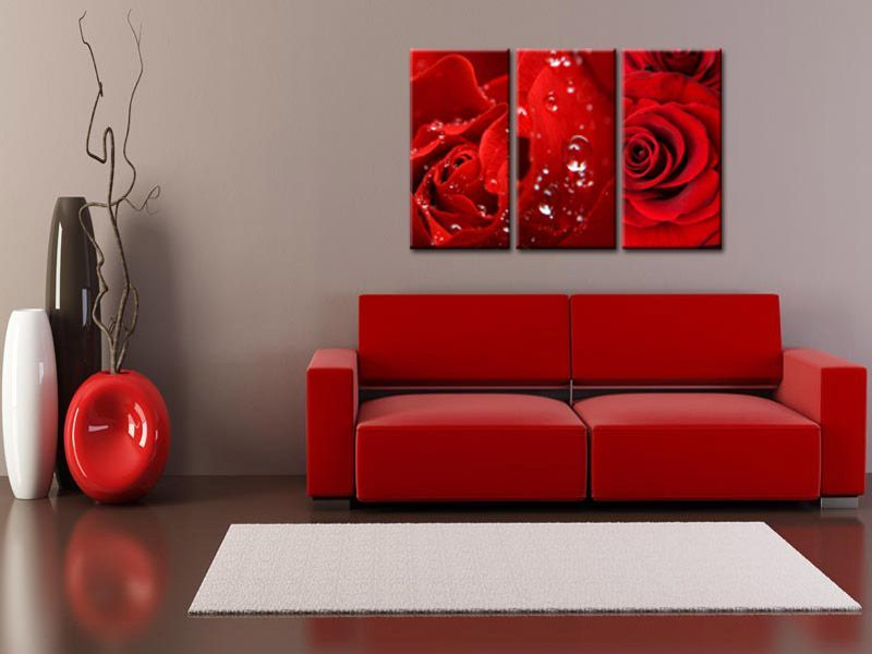 tableau fleurs tableau d coration d coration moderne et triptyque. Black Bedroom Furniture Sets. Home Design Ideas