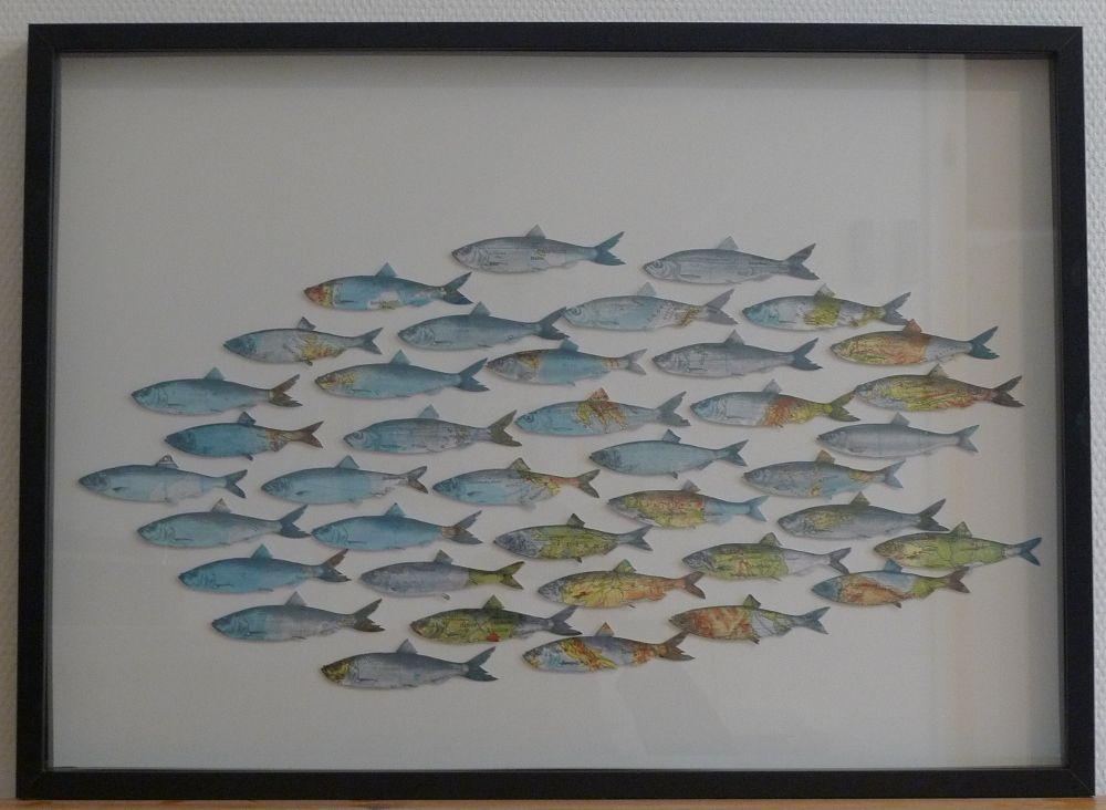 Fischschwarm im Bilderrahmen | idee creative | Pinterest | Crafts
