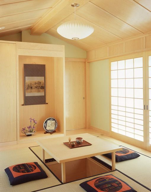 Japanese Tatami Dining Area Japanese Living Rooms Japanese Home