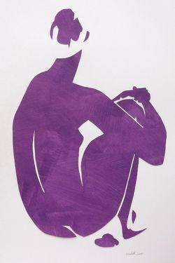 "Saatchi Online Artist Elizabeth Lever; Collage, ""Eva in Purple"" #art"