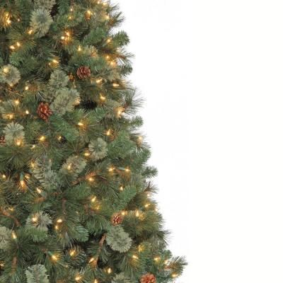 Martha Stewart Living 9 Ft Pre Lit Alexander Pine Quick Set Artificial Christmas Tree With Surebri Fir Christmas Tree Artificial Christmas Tree Christmas Tree