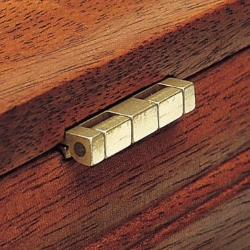 Brusso Solid Brass Small Box Stop Hinges M 246 Belbau