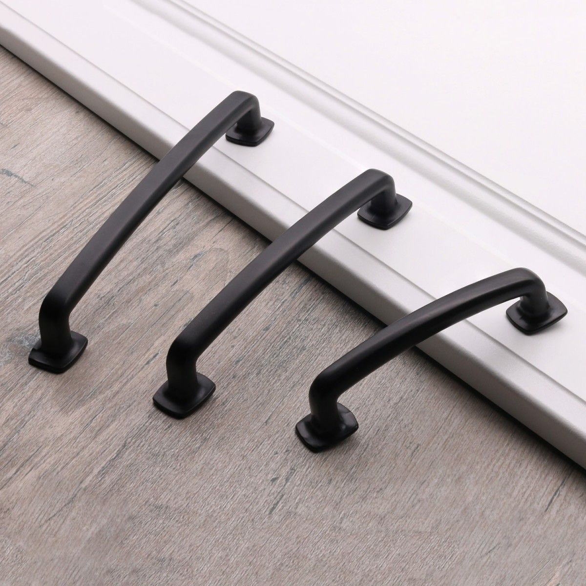 Matte Flat Black Cabinet Hardware Modern Farmhouse Kitchen