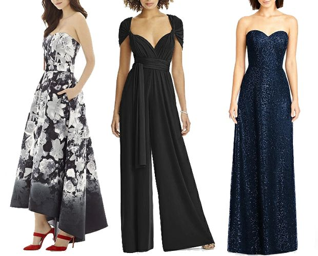 Bridesmaid jumpsuit and dresses from Dessy for A/W maids