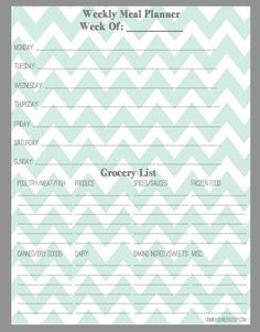 Grocery List Recipe Format  Google Search  Organize Me