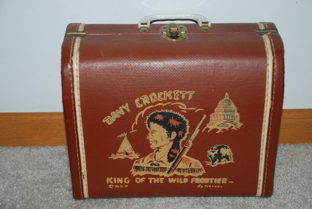 Vintage Davy Crockett 1950's Childrens Suitcase / Overnight Case ...