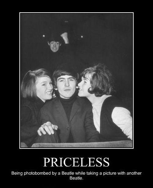 Celebrity Photobomb! Beatles funny, The beatles, Paul