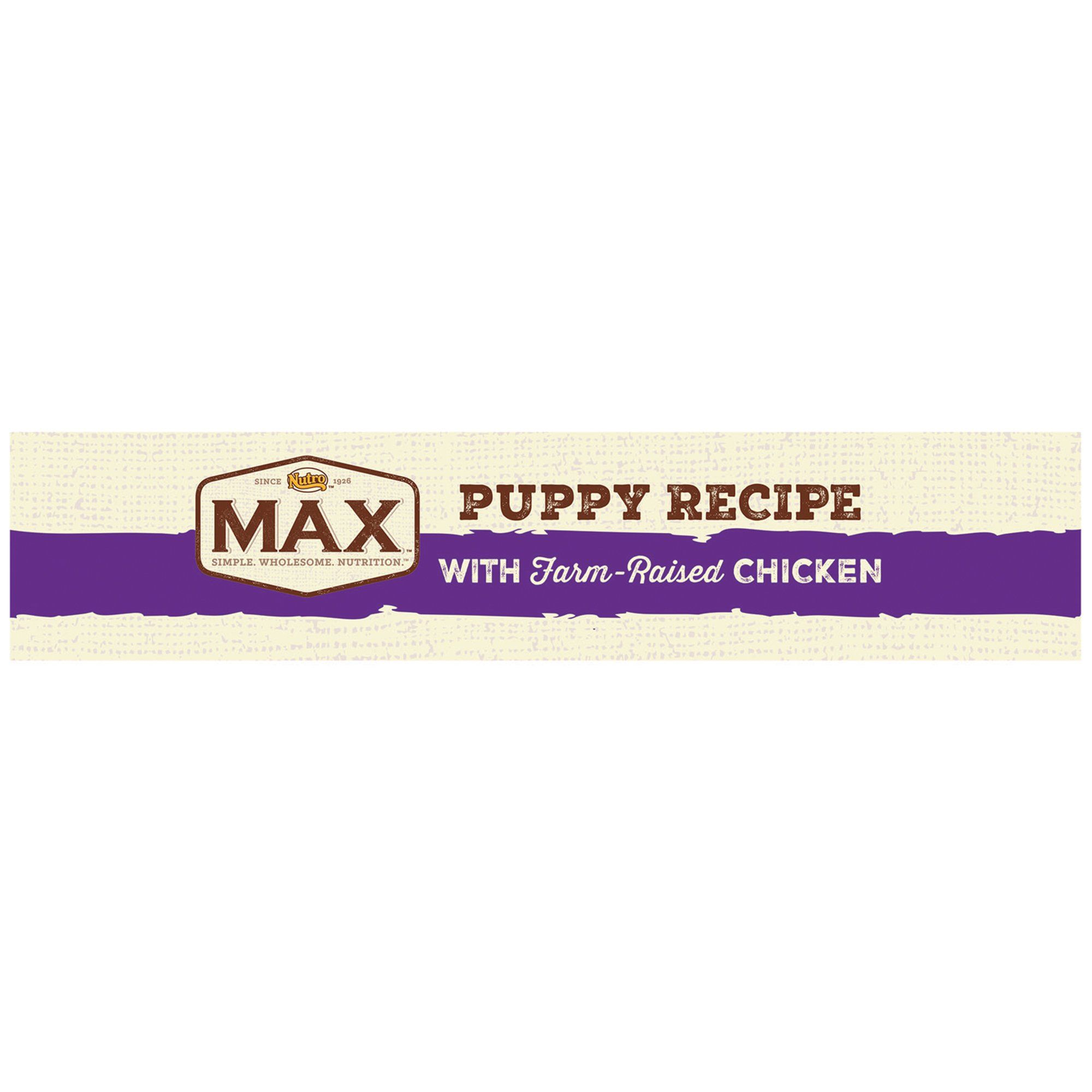 Nutro Max With Farm Raised Chicken Puppy Recipe Dry Dog Food 12