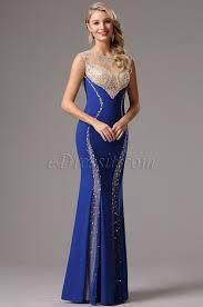 Vestidos De Gala Con Encaje Azul Buscar Con Google