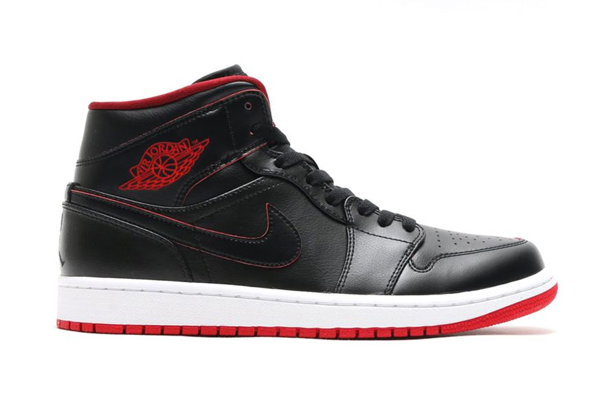 air jordan 1 red white black