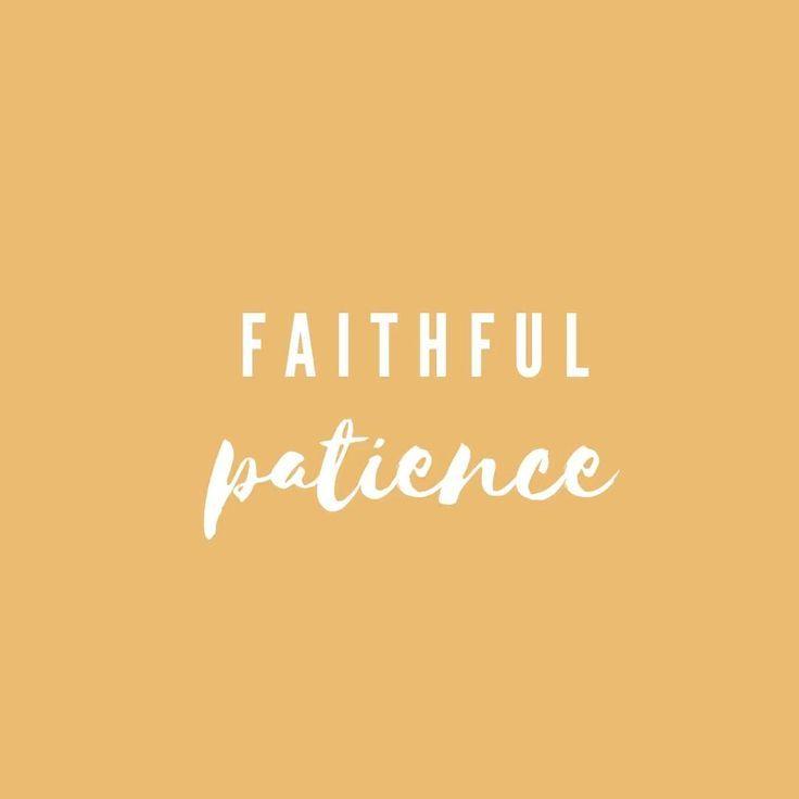 Sarah's faithful patience
