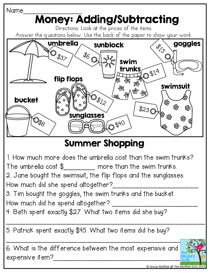 Summer Review Packets! | Word problems, Fun activities and Math