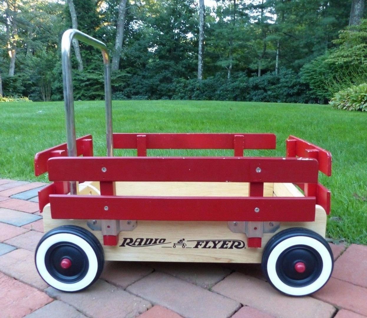 125 2018 Red Radio Flyer Child Wagon Walker Push Wagon Wooden Toy Cart 1953280331 Kids Wagon Radio Flyer Wooden Toys