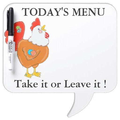 Patchwork Chicken Menu Message Board