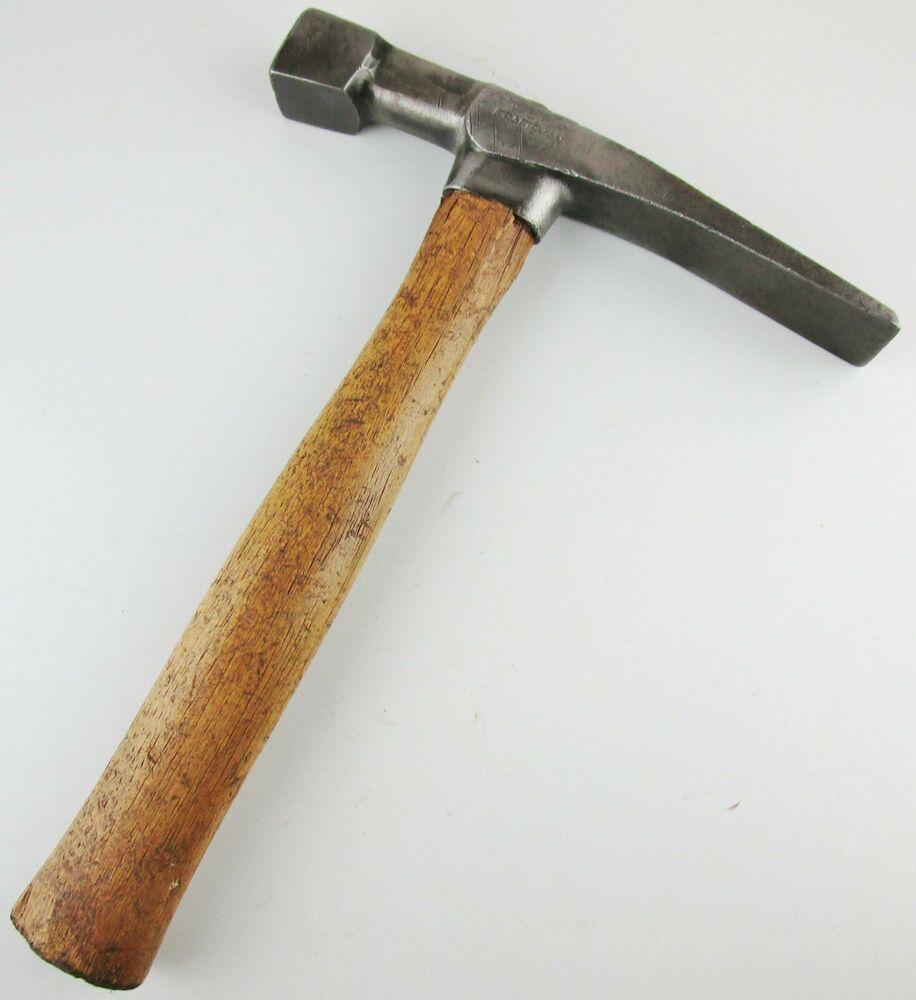 Vtg Craftsman Brick Mason Bricklayer Hammer Geologist Rock Pick W Wood Handle Craftsman Hammer Handles Brick Mason Wood Handle