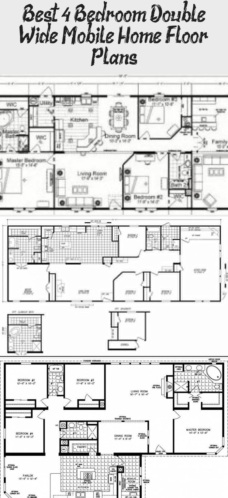 Double Wide Floor Plans 4 Bedroom Google Search Dreamin Regarding 4 Bedroom Double Wide Mobile Home F Mobile Home Floor Plans House Floor Plans Floor Plans