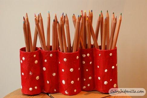 Fabuleux Porte crayons maison | Porte crayon, Papier wc et Rouleaux IS93