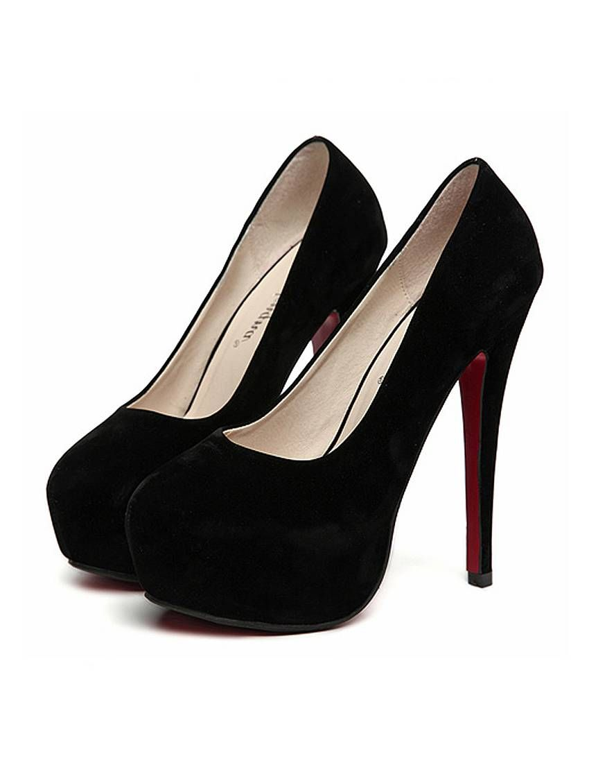 Black Pumps Heels | Heels with Almond Shaped Toe Shoes black